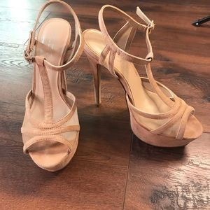 Aldo Leather Nude Heels